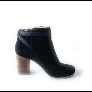 Madewell Black Aimee Suede Ankle Boots 8.5US